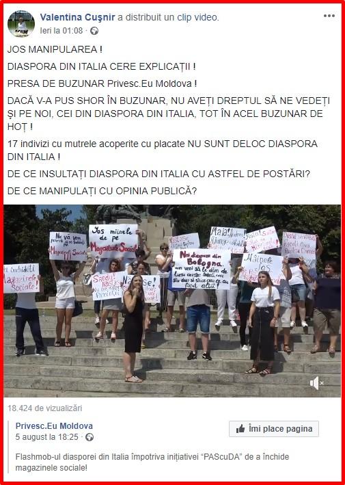 Valentina Cusnir, Andrei Nastase, PPDA, PAS, Privesc.eu, atac, presa libera