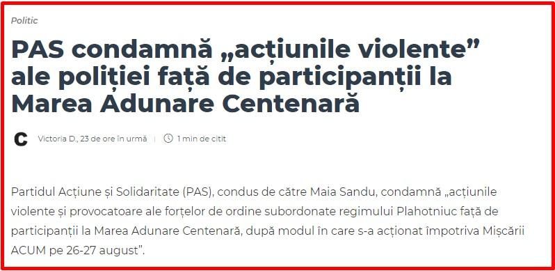 PAS, PPDA, protest, unire, Moldova, Chisinau, Romania.